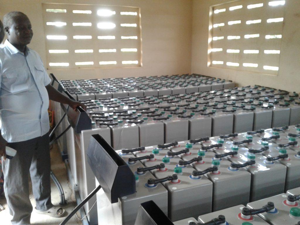 Benin minigrid batteries, credit: Marc Jeuland