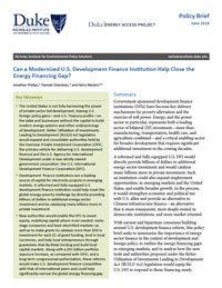 Can a Modernized U.S. Development Finance Institution Help Close the Energy Financing Gap?