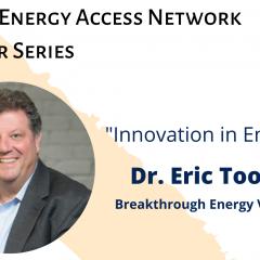 GLEAN Speaker Series: Eric Toone, Executive Managing Director for Tech; Breakthrough Energy Ventures.