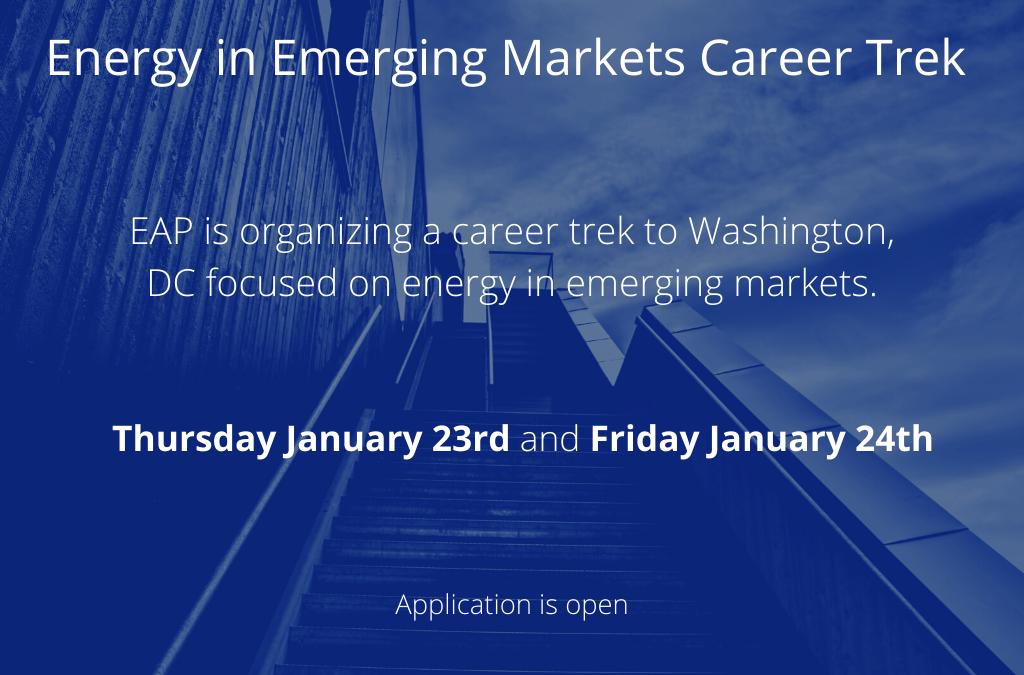 Energy in Emerging Markets Career Trek in Washington, DC