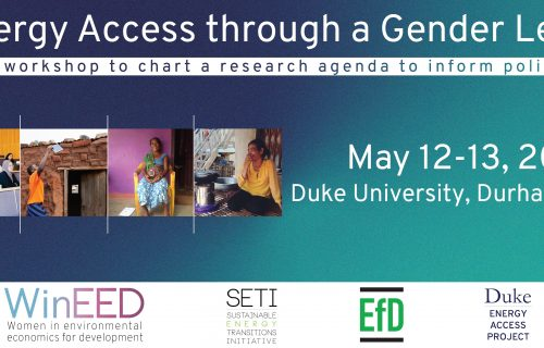 Energy Access through a Gender Lens: A workshop to chart a research agenda to inform policy