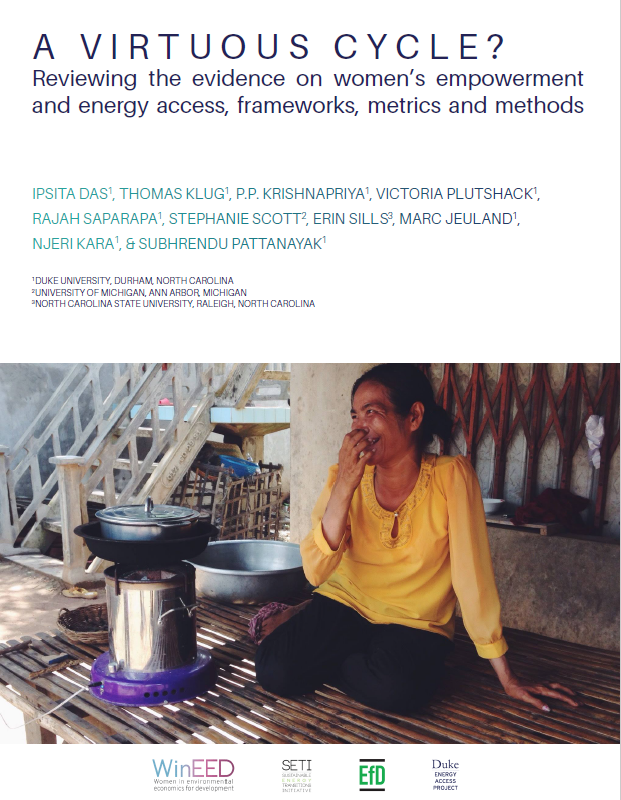 A Virtuous Cycle? Reviewing the evidence on women's empowerment and energy access, frameworks, metrics and methods