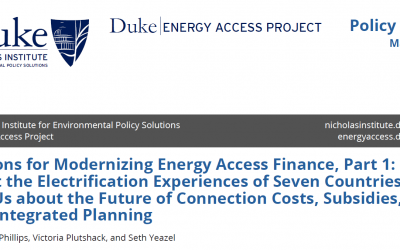 New Publication: Lessons for Modernizing Energy Access Finance, Part 1