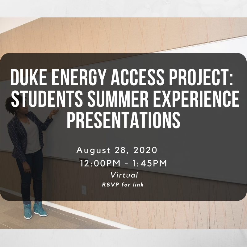 Energy Access Project @ Duke: Students Summer Experience Presentations