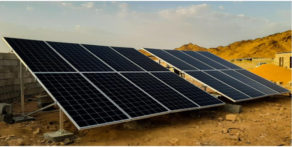 solar panels in desert