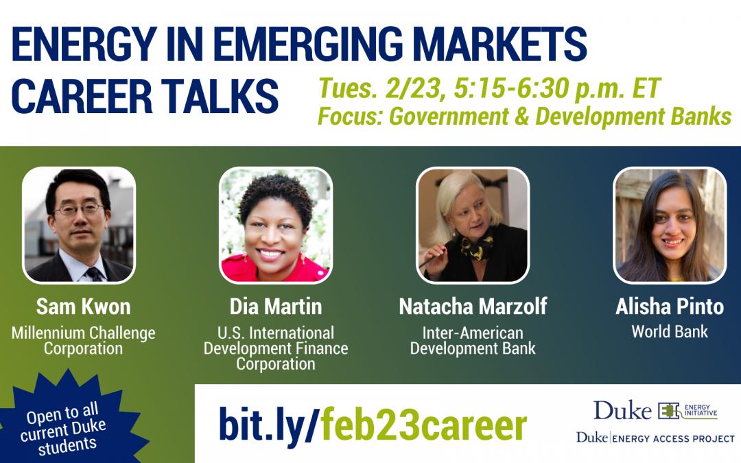Watch: Energy in Emerging Markets Career Talks